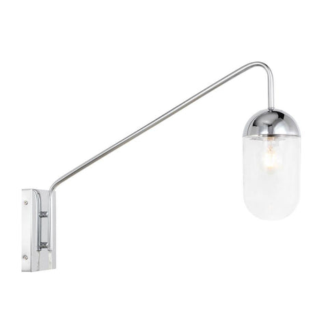 Elegant Lighting Kace 1 light Chrome and Clear glass wall sconce