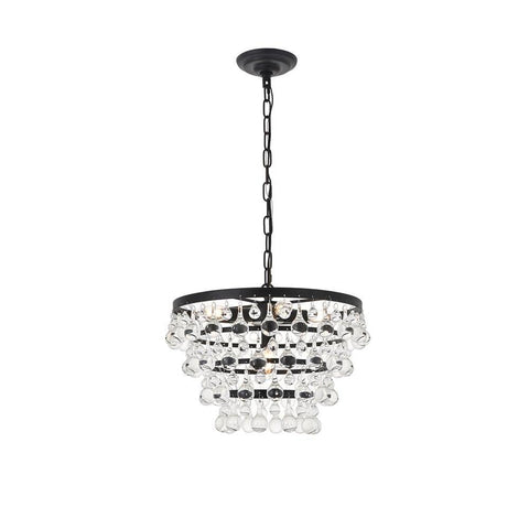 Elegant Lighting Kora 5 light Black Pendant