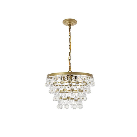 Elegant Lighting Kora 5 light Brass Pendant