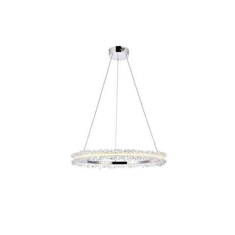 Elegant Lighting Laurel LED 26 inch Chrome pendant