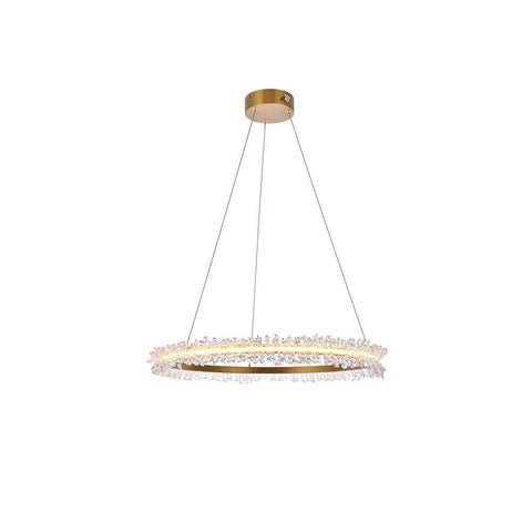 Elegant Lighting Laurel LED 26 inch Gold pendant