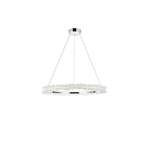 Elegant Lighting Laurel LED 34 inch Chrome pendant