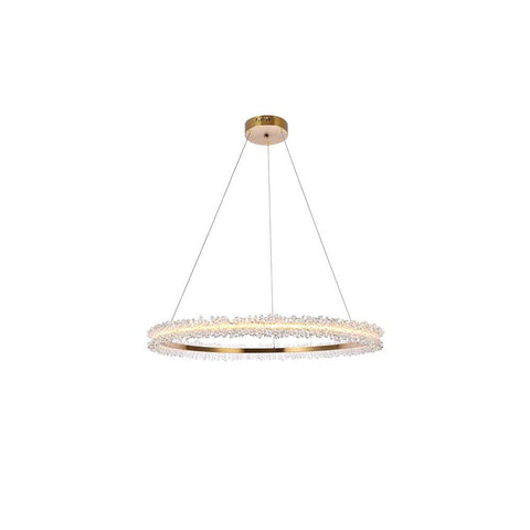 Elegant Lighting Laurel LED 34 inch Gold pendant