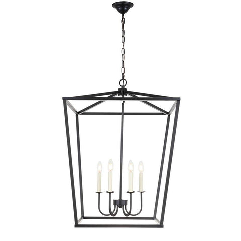 Elegant Lighting Maddox 6 light Black chandelier