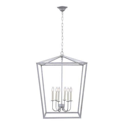 Elegant Lighting Maddox 6 light Vintage silver pendant
