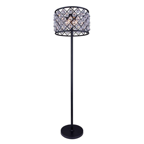 Elegant Lighting Madison 4 light Matte Black Floor Lamp Clear Royal Cut Crystal