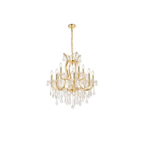 Elegant Lighting Maria Theresa 13 light Gold Chandelier Clear Royal Cut Crystal