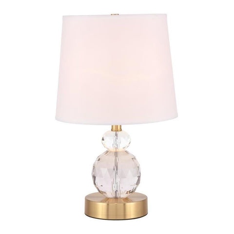 Elegant Lighting Maribelle 1 light Brass Table Lamp