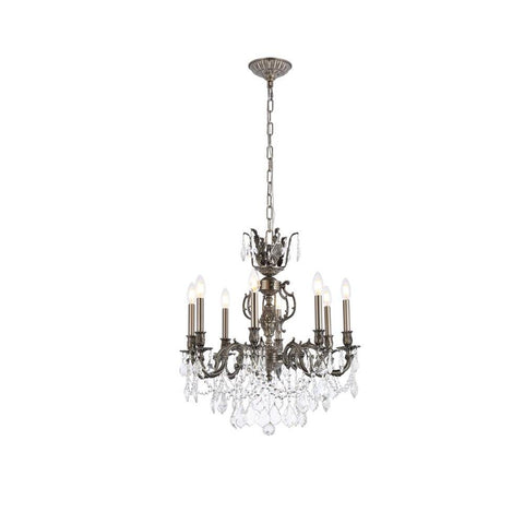 Elegant Lighting Marseille 8 light Pewter Chandelier Clear Swarovski Elements Crystal