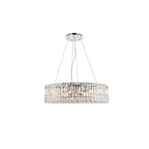 Elegant Lighting Maxime 12 light Chrome Chandelier Clear Royal Cut Crystal