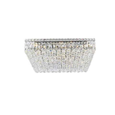 Elegant Lighting Maxime 13 light Chrome Flush Mount Clear Spectra Swarovski Crystal