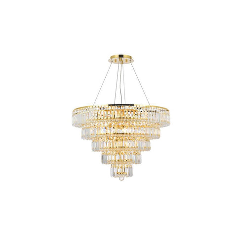 Elegant Lighting Maxime 17 light Gold Chandelier Clear Royal Cut Crystal