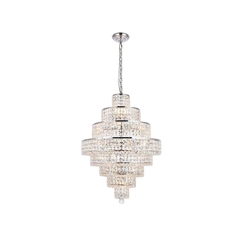 Elegant Lighting Maxime 18 light Chrome Chandelier Clear Royal Cut Crystal