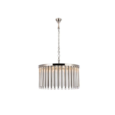 Elegant Lighting Maxwell 8 light Polished Nickel Chandelier Clear Royal Cut Crystal
