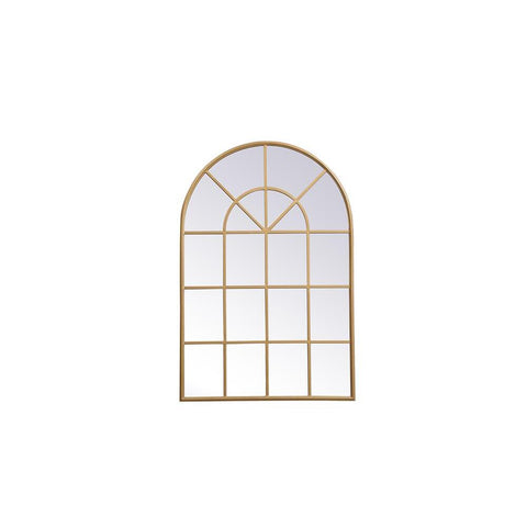 Elegant Lighting Metal frame rectangle mirror 14x28 inch in in Brass