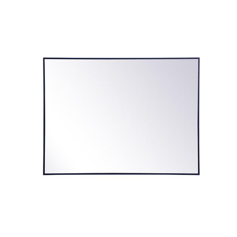 Elegant Lighting Metal frame rectangle mirror 36 inch x 48 inch in Blue