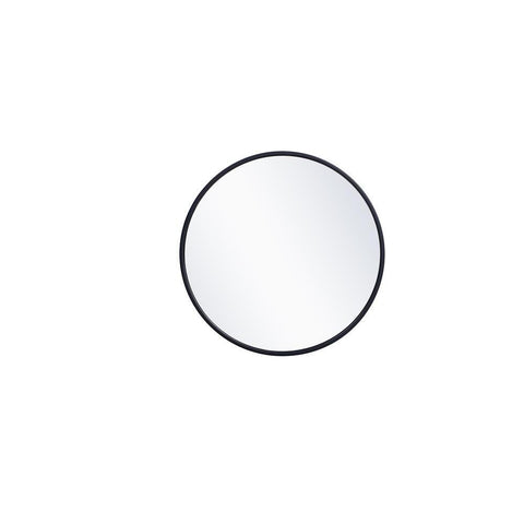 Elegant Lighting Metal frame round mirror 18 inch in Blue