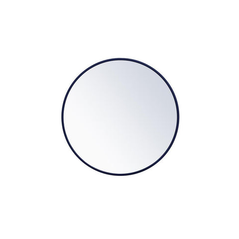 Elegant Lighting Metal frame round mirror 24 inch Blue