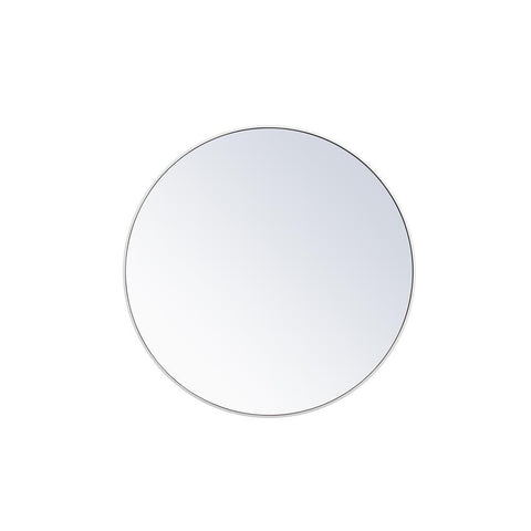 Elegant Lighting Metal frame round mirror 42 inch in White