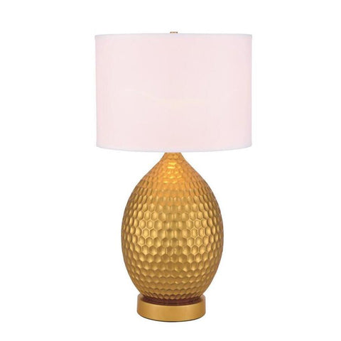 Elegant Lighting Miel 1 light Gold Table Lamp