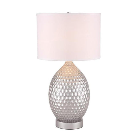 Elegant Lighting Miel 1 light Silver Table Lamp