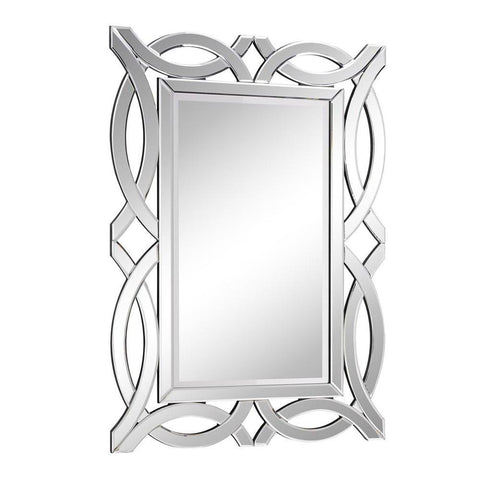 Elegant Lighting Modern 28 in. Contemporary Mirror in Clear