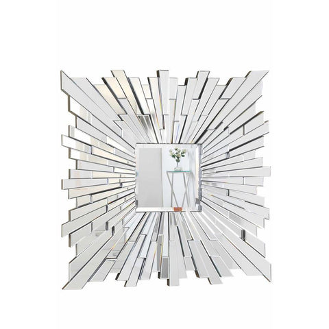 Elegant Lighting Modern 47 in. Contemporary Mirror in Clear