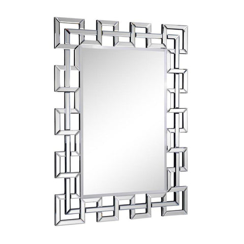 Elegant Lighting Modern 48 in. Contemporary Mirror in Clear