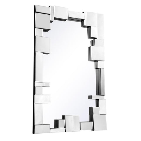 Elegant Lighting Modern 49.6 in. Contemporary Mirror in Clear
