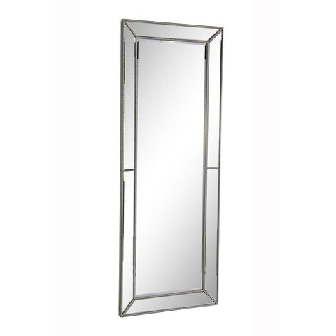 Elegant Lighting Modern 80 in. Contemporary Mirror in Silver leaf
