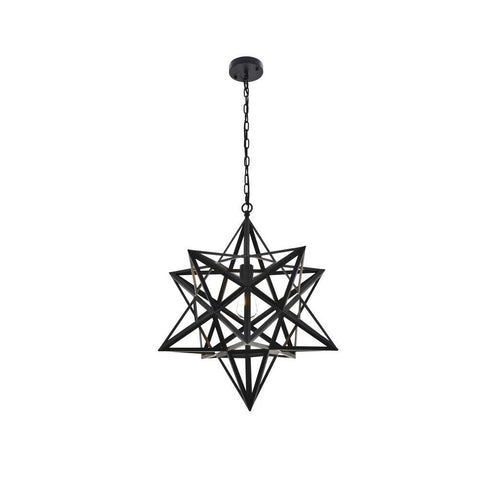 Elegant Lighting Nocturne 1 light black Pendant