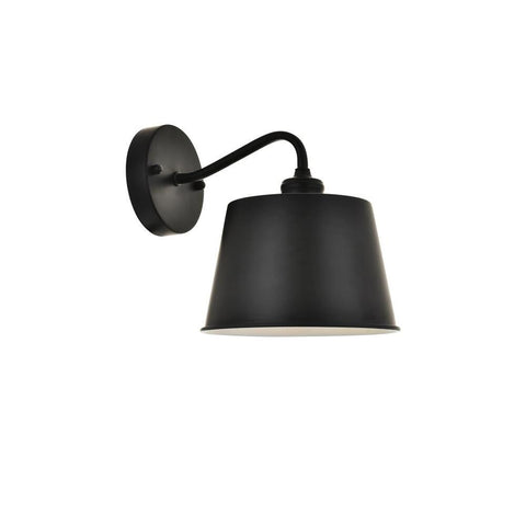 Elegant Lighting Nota 1 light black Wall Sconce