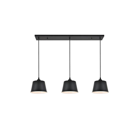 Elegant Lighting Nota 3 light black Pendant