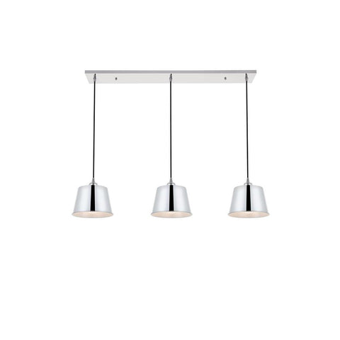 Elegant Lighting Nota 3 light chrome Pendant