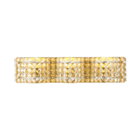 Elegant Lighting Ollie 3 light Brass and Clear Crystals wall sconce