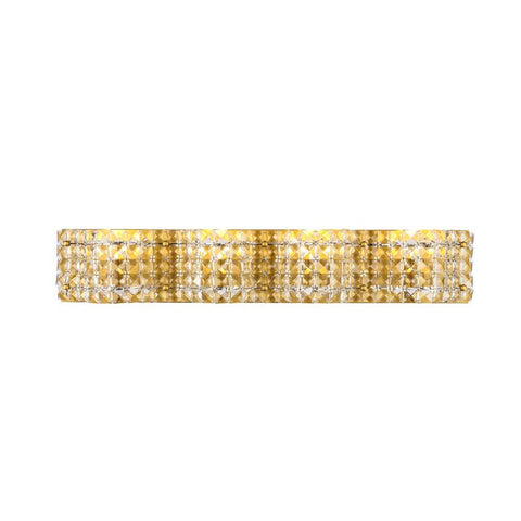 Elegant Lighting Ollie 4 light Brass and Clear Crystals wall sconce
