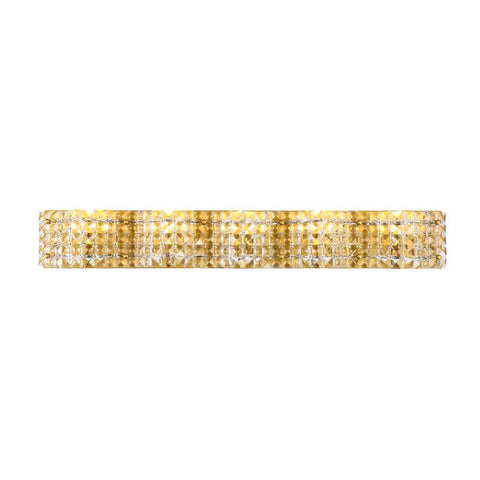 Elegant Lighting Ollie 5 light Brass and Clear Crystals wall sconce