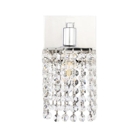 Elegant Lighting Phineas 1 light Chrome and Clear Crystals wall sconce