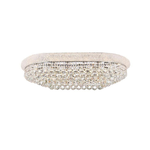 Elegant Lighting Primo 18 light Chrome Flush Mount Clear Spectra Swarovski Crystal