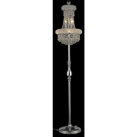 Elegant Lighting Primo 6 light Chrome Floor Lamp Clear Spectra Swarovski Crystal