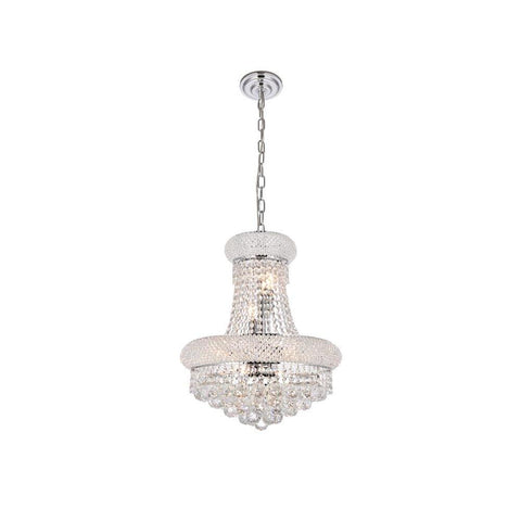 Elegant Lighting Primo 8 light Chrome Pendant Clear Royal Cut Crystal