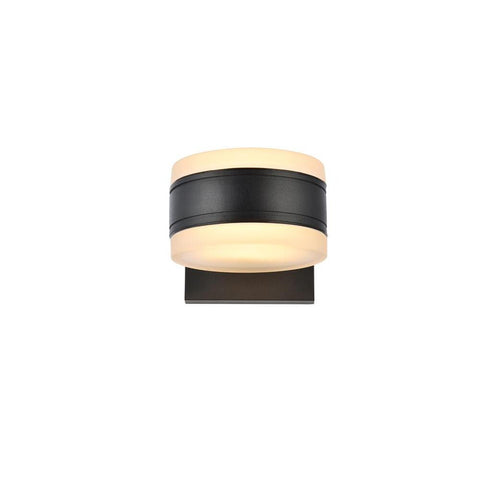 Elegant Lighting Raine Integrated LED wall sconce in black