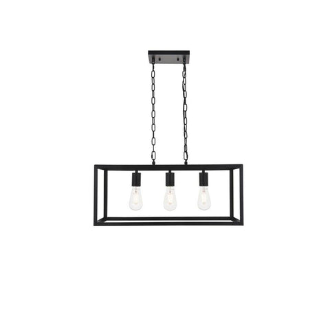 Elegant Lighting Resolute 3 light black Pendant