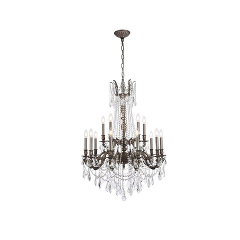 Elegant Lighting Rosalia 15 light Pewter Chandelier Clear Swarovski Elements Crystal