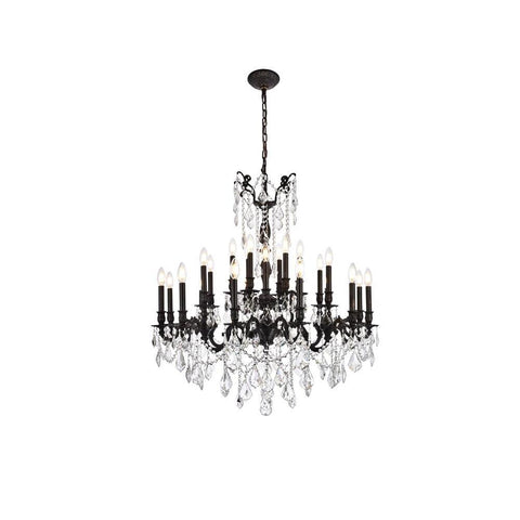 Elegant Lighting Rosalia 24 light Dark Bronze Chandelier Clear Royal Cut Crystal