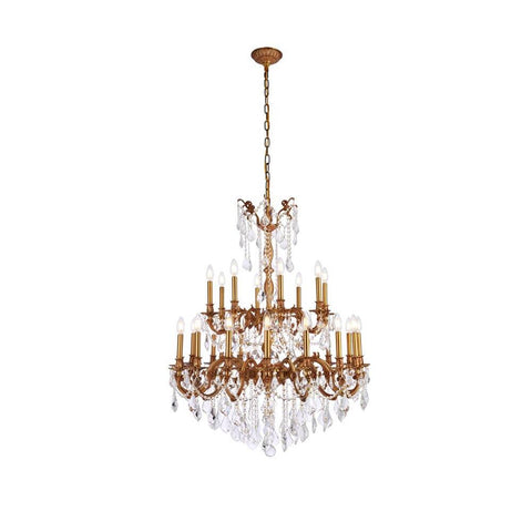 Elegant Lighting Rosalia 24 light French Gold Chandelier Clear Swarovski Elements Crystal