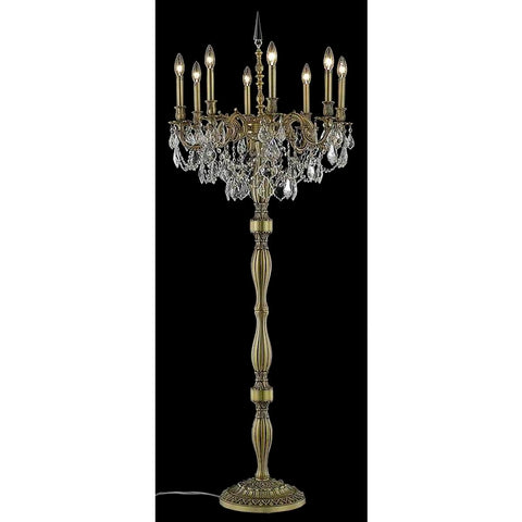 Elegant Lighting Rosalia 8 light French Gold Floor Lamp Clear Elegant Cut Crystal