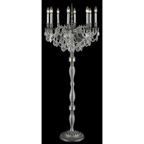 Elegant Lighting Rosalia 8 light Pewter Floor Lamp Clear Elegant Cut Crystal