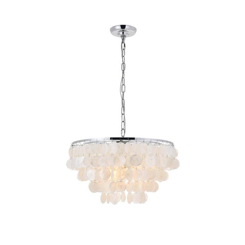 Elegant Lighting Selene 4 light Chrome Pendant