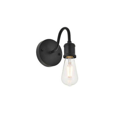 Elegant Lighting Serif 1 light black Wall Sconce